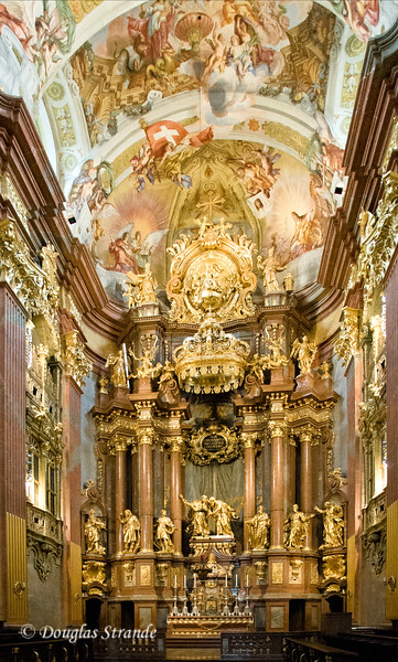 Interior of the church at Melk Abbey
