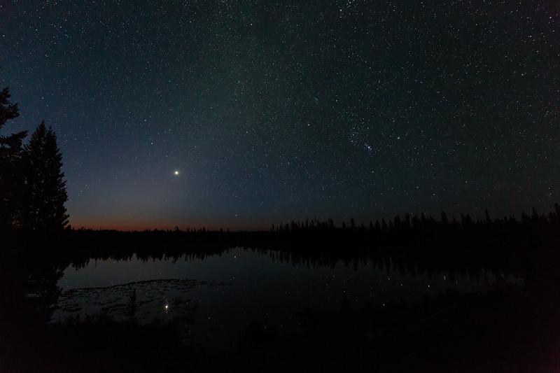 Zodiacal Light Over String Lake