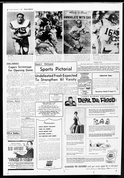 Daily Trojan, Vol. 52, No. 50, December 01, 1960
