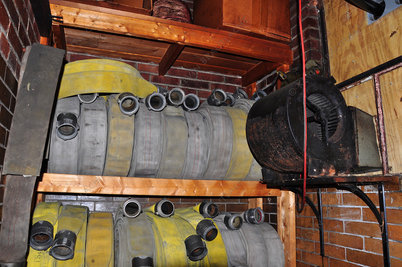 Hose room (note motor used to raise hose)