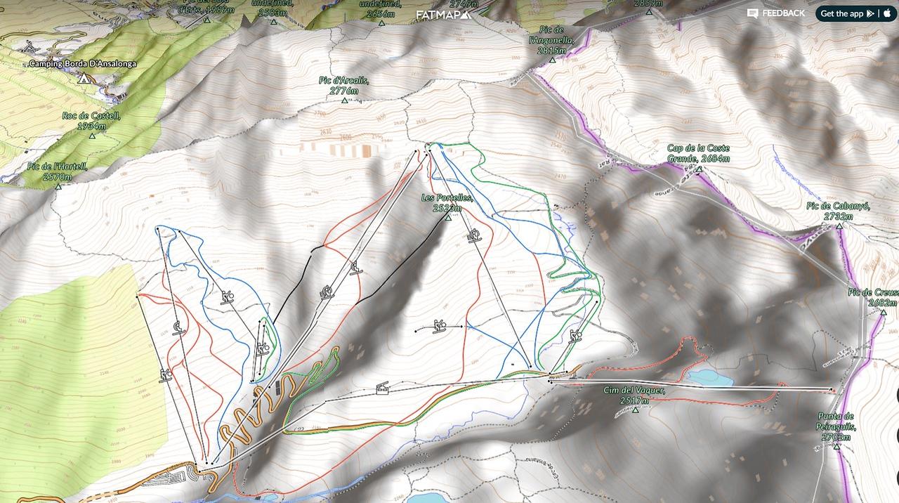 Integración 3D de FATMAP con Opentopomap