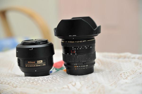 AF-S Nikkor 35mm f1.8G and Tamron AF 19-35mm f3.5-4.5