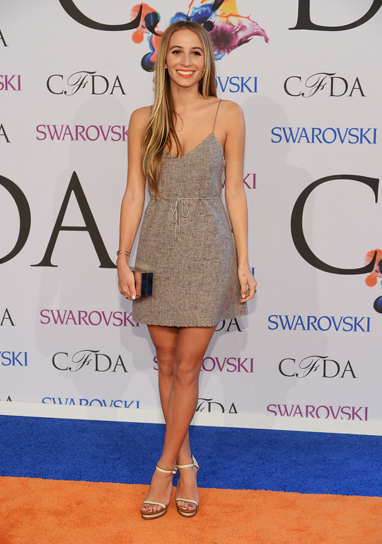. Harley Viera-Newton attends the 2014 CFDA fashion awards at Alice Tully Hall, Lincoln Center on June 2, 2014 in New York City.  (Photo by Dimitrios Kambouris/Getty Images)