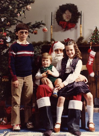 Domenico Kids with Santa and Christmas Cards
