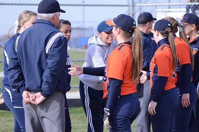 Oswego East girls varsity softball Vs Oswego