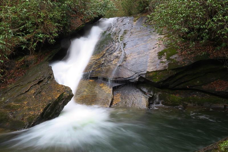 Gorges State Park -- Paw Paw Waterfalls, Transylvania County (3-10-17)