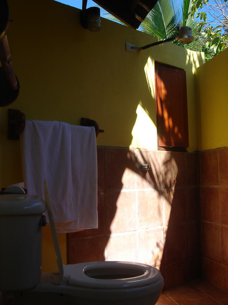 our open-air bathroom
