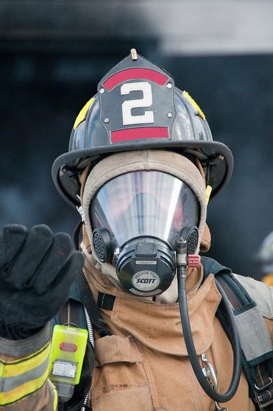 Live burn for fire school