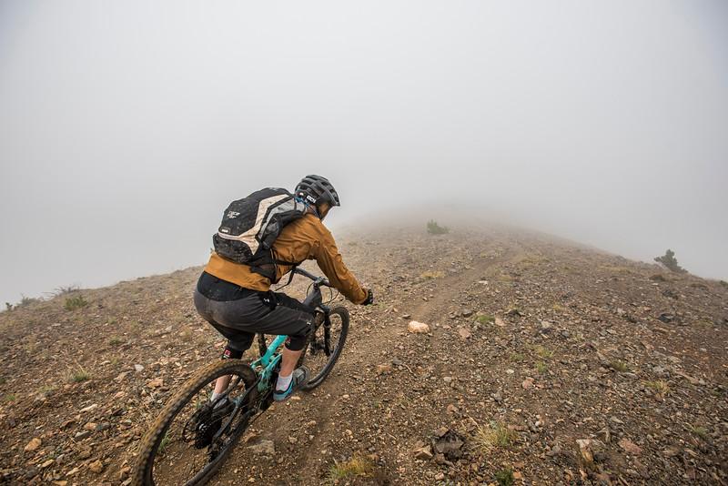 Mountain biking in Chilcotin mountains, British Columbia, Canada.
