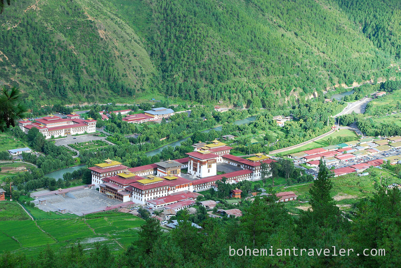 birds eye view of dzong in Thimphu.jpg