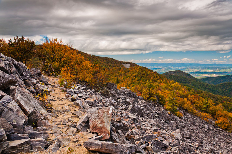 Autumn view of the Appalachians from Blackrock Summit in Shenandoah National Park, Virginia.