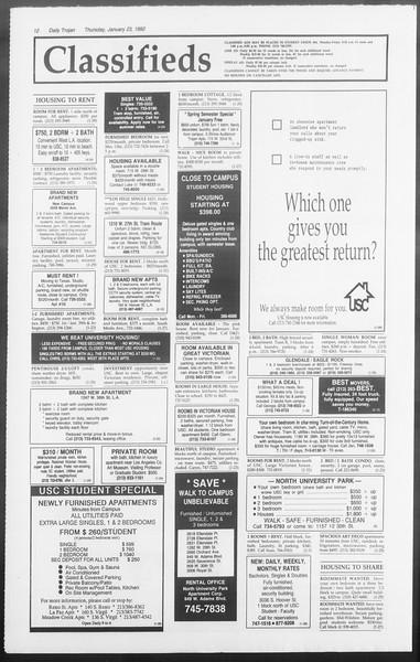 Daily Trojan, Vol. 117, No. 6, January 23, 1992