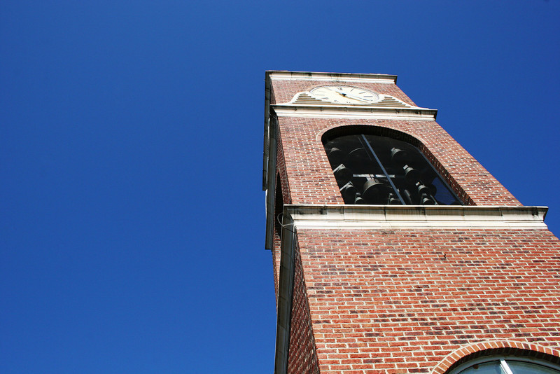 Hollifield Carillon (bell tower) on a fall morning.