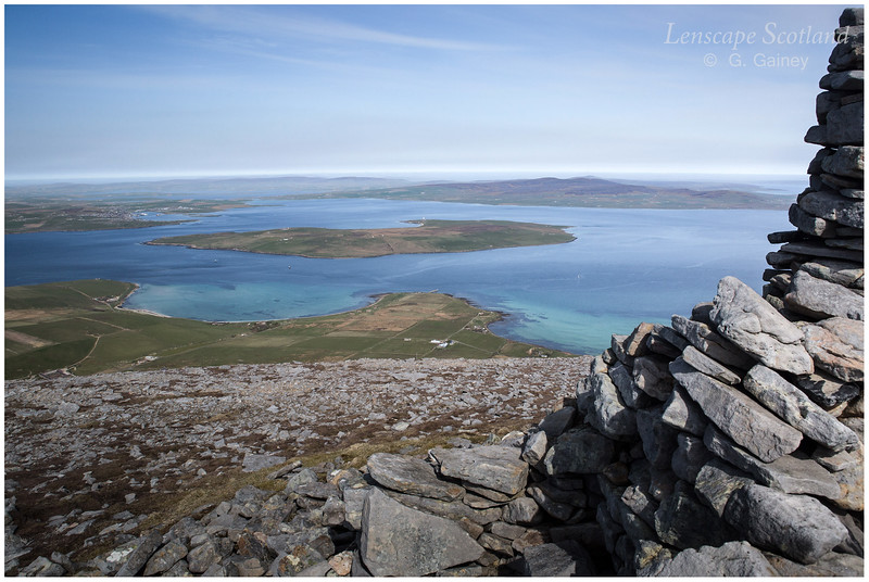 Stromness and Graemsay from Ward Hill (2)
