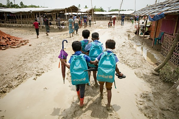 Monsoon in Rohingya Refugee Camp
