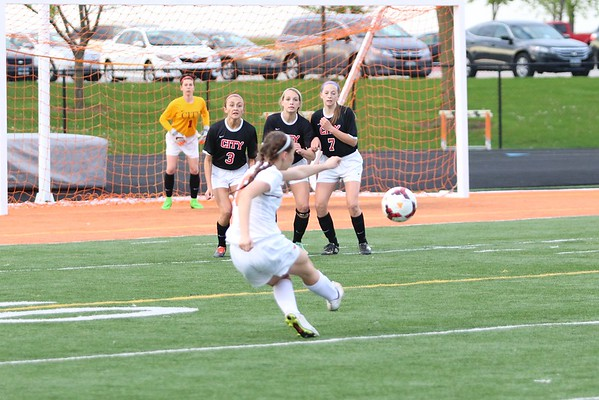 Prairie vs. Iowa City High Girls Soccer 5/2/16