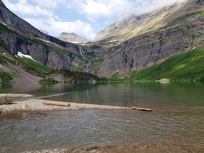 July 25 - horseback riding, Lower Grinnell Lake, Apikuni Falls hike