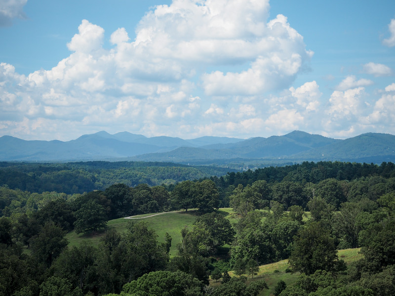 Blue Ridge Mountains seen from the Biltmore