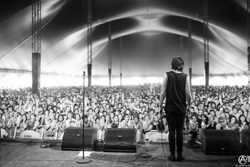 Packed tent