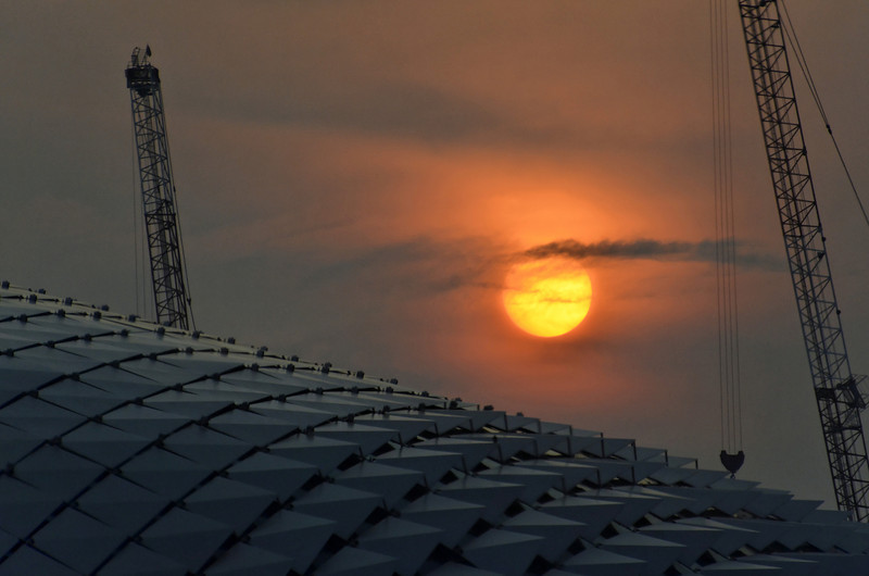 Sunset over the Esplanade, Singapore