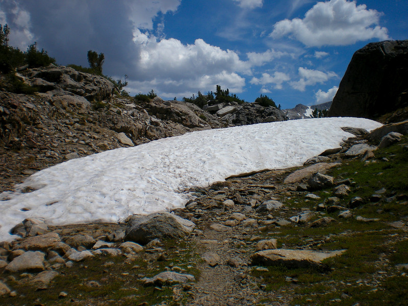 Snow on the trail.