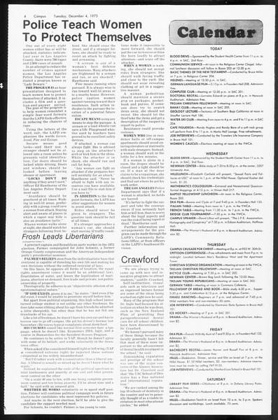 Daily Trojan, Vol. 66, No. 50, December 04, 1973