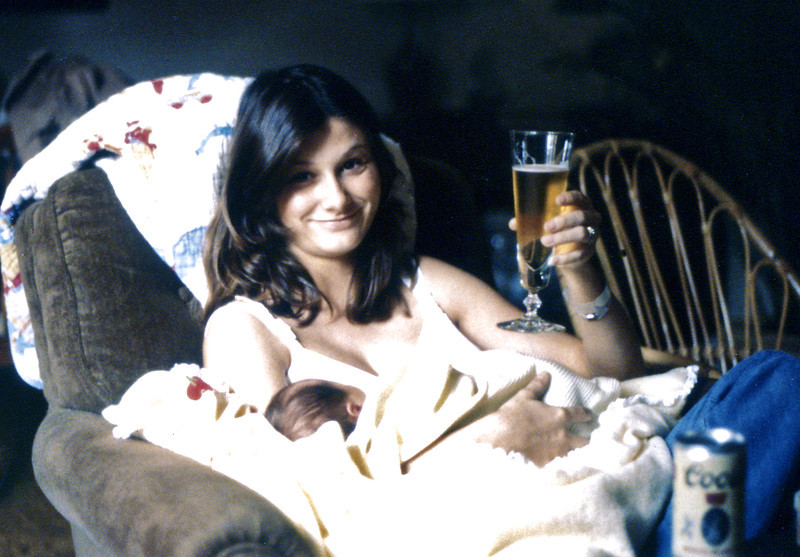 February 1980, Jason comes home & Jan's first beer in 9 months.