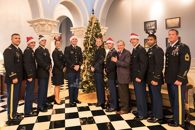 32912 ROTC Holiday Card Cadets E Gordon Gee Stewart Hall December 2016