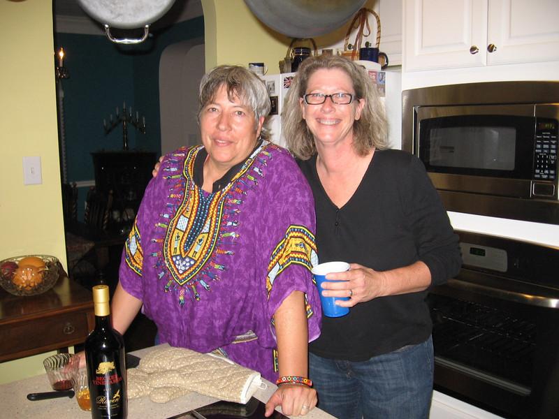 Jana and Lorinda, the happy couple.