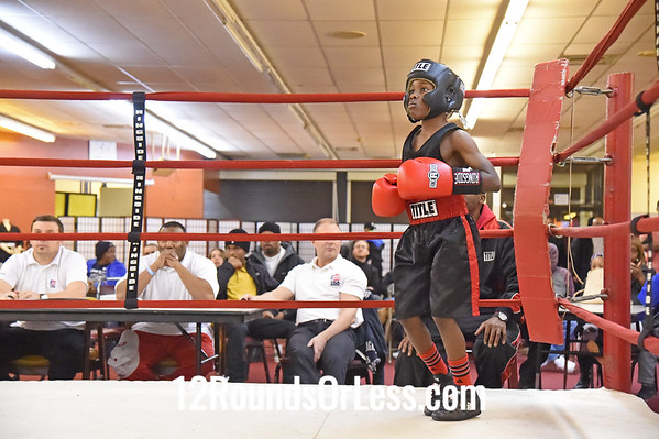 Bout #1,  Antwon Dortch, Double Trouble, Red Gloves -vs- Ibrahim Mason, DNA Boxing, Blue Gloves, 70 LBS