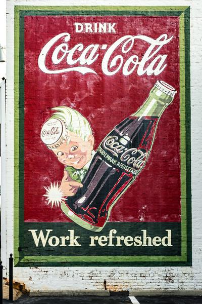 GA, McDonough - Coca-Cola Wall Sign 02