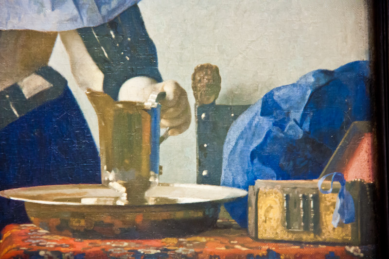 Young Woman with a Water Pitcher; Johannes Vermeer;