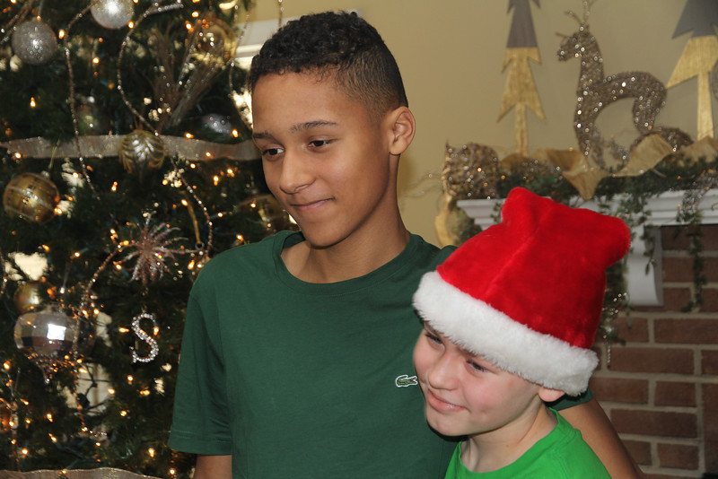 Edward IV and Aaron - Christmas 2016