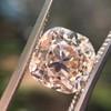 4.03ct Light Fancy Brown Antique Cushion Cut Diamond Halo Ring GIA LFB, SI1 53
