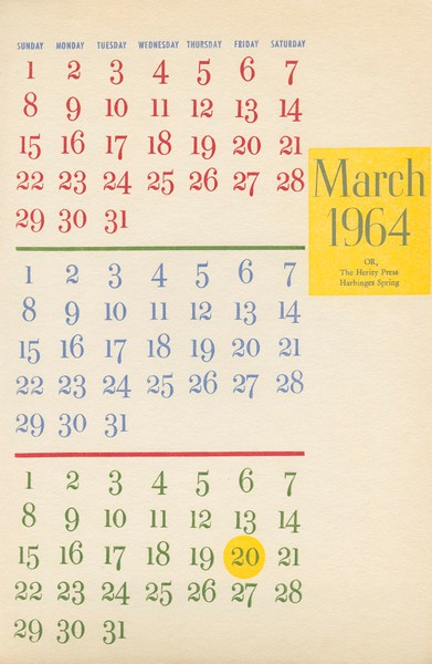 March, 1964, Herity Press