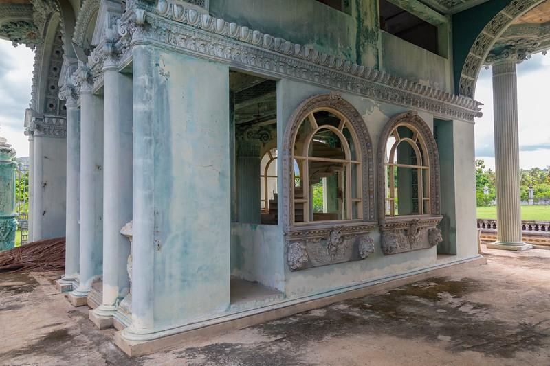 at the abandoned beachside mansion, som roi yot beach, prachuap khiri-khan, thailand in July 2017