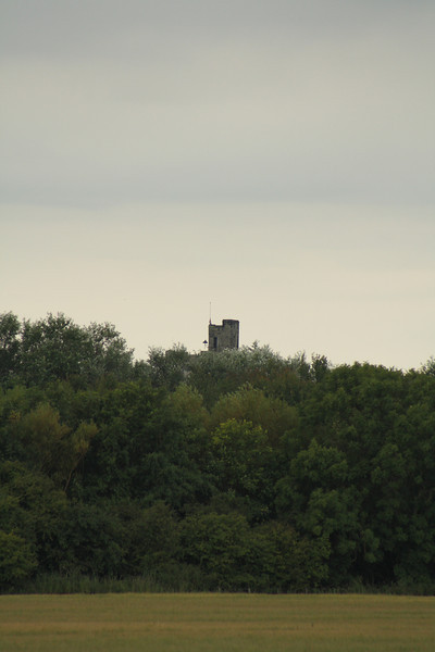 The tower at Haggerston Castle as seen from West Goswick Farm LC