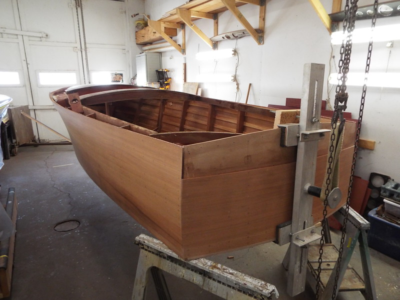 Hull turned right side up.