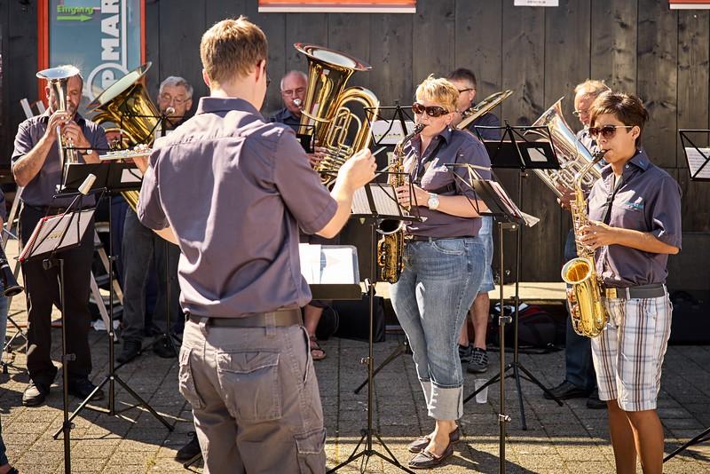 Auch die Musikgesellschaft Ganterschwil spielte auf.