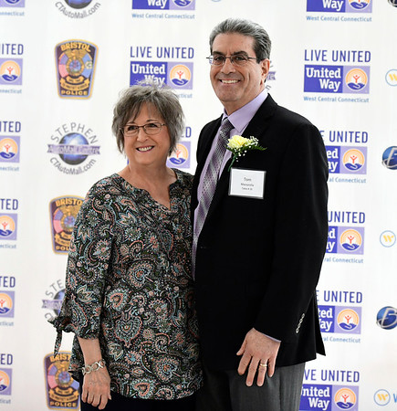 4/11/2019 Mike Orazzi | Staff Rita and Tom Mazzarella during Thursday evening's United Way of West Central Connecticut's 17th Annual Community Builders Reception held at the DoubleTree by Hilton in Bristol.