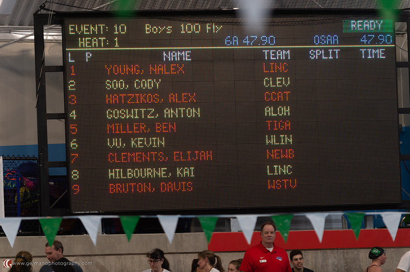 Boys 100 Fly State Championship Ben Miller