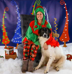 Jamie West - Pet Pics with Santa