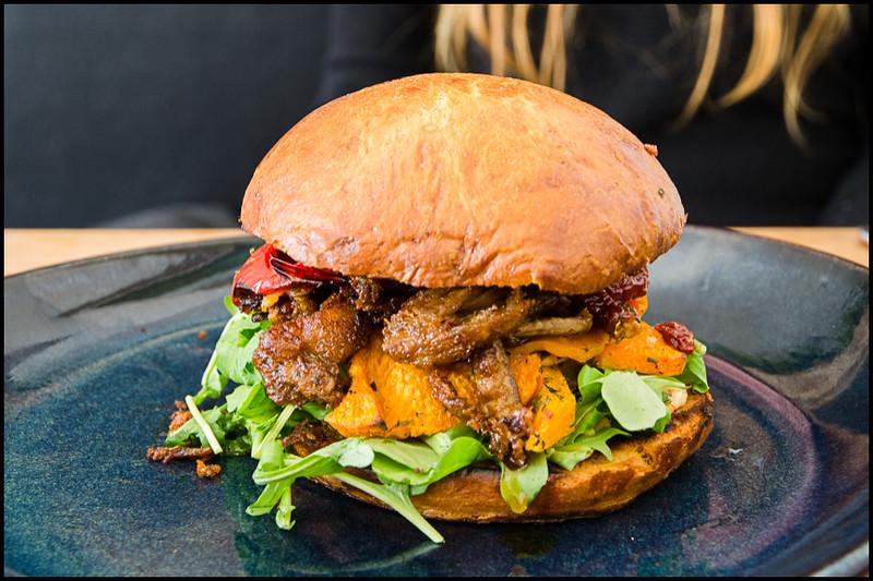 Lamb Burger - Salamanca Wharf Cafe
