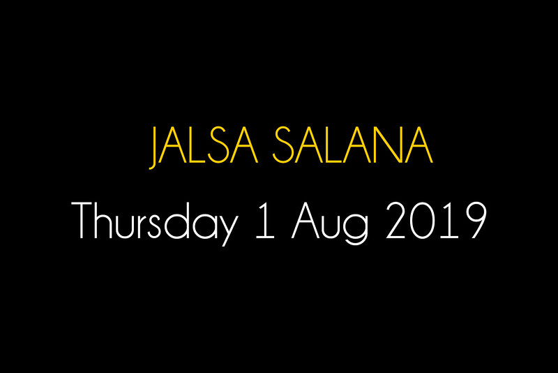 JALSA - Thursday 1 AUG