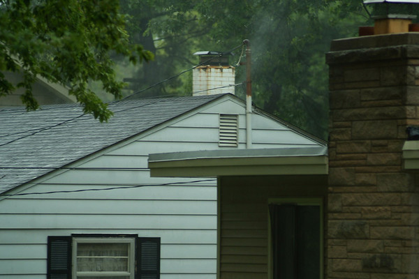South Elgin - 08-23-07 - Attic Fire hampered by storm