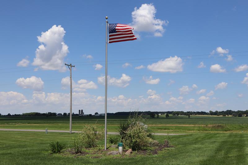 U.S. Flag at the Salem Township House