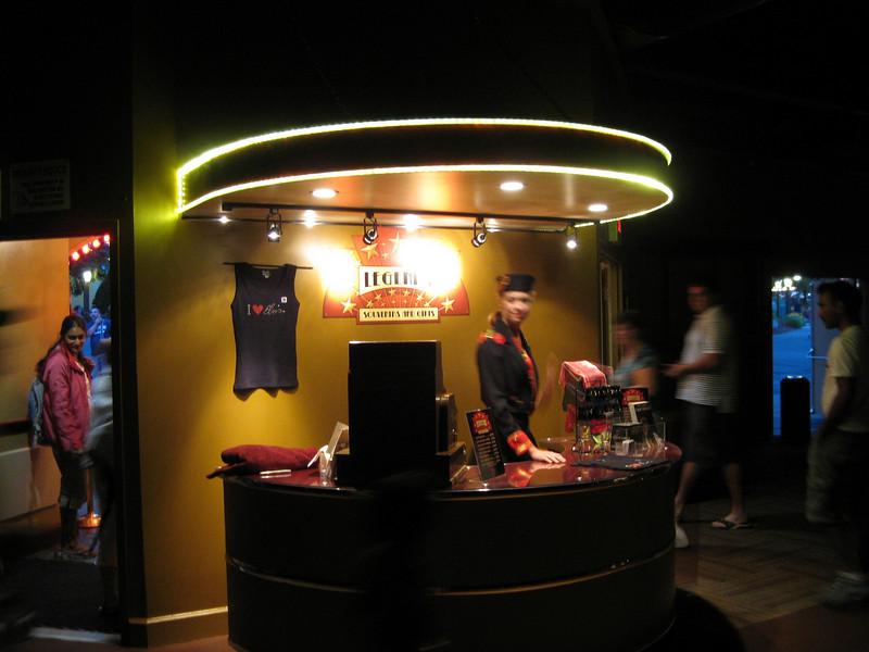 The Dancehall Theater staff wear bellhop uniforms.