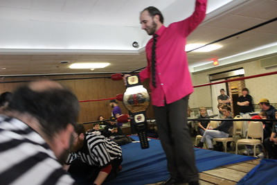 "NCW Heavyweight Championship ""Sensational"" Scott Levesque with Rich Bass vs. ""Riot"" Kellan Thomas"