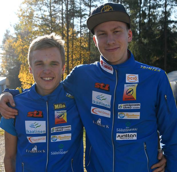 Aleksi Karppinen (vas.) ja Eetu Savolainen, kuva: Pirjo Valjanen