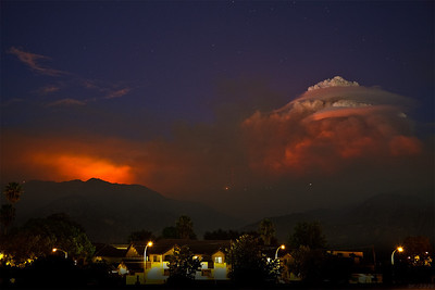 Pyrocumulus over Mt. Wilson